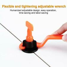 50 PCs Tiles Leveling System DIY Reusable Tile Clips Leveler Spacers Free Wrench