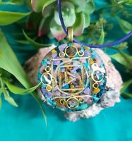 Ultimate Fear Banishing Root Chakra Orgone Pendant:Fear, Anxiety, Indecisiveness
