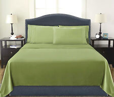 Deep Pocket 4 Piece Queen Size Bed Sheet Set Egyptian Comfort 1800 Count Sage