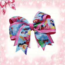 "20 BLESSING Happy Girl 4.5"" Princess Cheer Hair Bow Clip Cinderella Snow White"