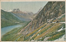 1916 Glacier National Park Gunsight Pass Great Northern Railway Tinted Postcard