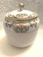 NIPPON Hand Painted Sugar Bowl with Gold Trim Vintage ** BEAUTIFUL!**
