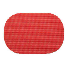 Kraftware Corp. Fishnet Flag Red Oval Placemat Dz.