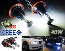2x CREE LED H8 for BMW Angel Eye Halo Light 40W E90 E92 E70 328i 535i 750Li 135i