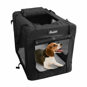 Crate Kennel for Pets 3 Door Sided Soft Mesh Folding 36'' Large Dog Travel Car