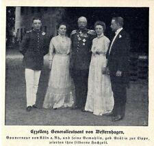 Exzellenz General von Westernhagen Gouverneur von Köln 1911