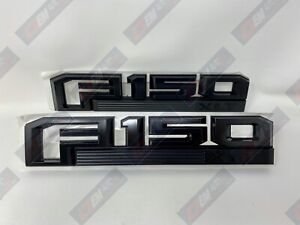 15 thru 20 F-150 OEM Ford Black Special Edition Fender Emblem Nameplate Set XLT