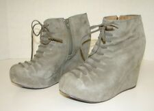 JEFFREY CAMPBELL Wedge Ankle Boots Hamilton Gray Size 5