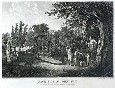 CARL WILHELM KOLBE - Sacrifice au Dieu Pan - nach Gessner - Radierung 1806