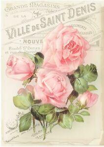 1 Blatt DIN A4 Decoupage Softpapier roses