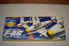 1/48 VINTAGE, EARLY 1950s, LINDBERG F-86 SABRE JET  KIT # 505:98