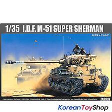 Academy 13254 1/35 Plastic Model Kit M-51 Super Sherman Israeli Medium Tank
