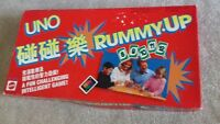 MATTEL 1993 UNO Rummy Up Tile Game 100% Vintage Complete  Family Game (rumikub)