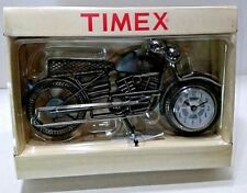 Timex Table Clock Nib Tmx 8195 Wrought Iron Motorcycle quartz biker office desk