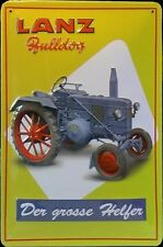 "LANZ BULLDOG ""DER GROSSE HELFER"", BLECHSCHILD, Traktor, Schlepper"