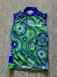 EUC Pearlizumi Women's Sleeveless Cycling Jersey Size Large Color Green Blue