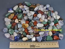 1 KG TROMMELSTEINE-Edelsteine+Mineralien+NATUR+BUNT+S