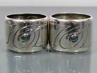 2 Serviettenringe,Patriz Huber?,zugeschrieben,Silber,antik,Jugendstil,um1900