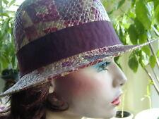 chapeau pour femmes Trilby multicolore mode d'Italie en paille SOLEIL D'été