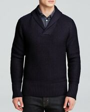 The Men's Store at Bloomingdale's True Wool Shawl Collar Sweater S $275 E6091