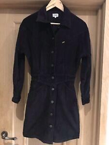 Womens Wrangler Black Cord Western Dress