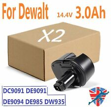 2X 14.4V 3.0Ah Battery For Dewalt DC9091 DE9038 DE9091 DE9092 DW9091 DW9094 UK