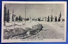 Vintage Original SPRUCE PARK, GOOSE BAY, LABRADOR Real PHOTO RPPC Postcard