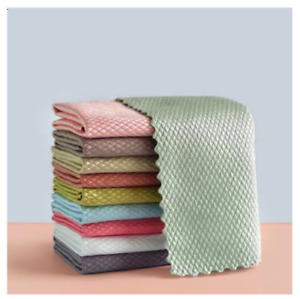NanoScale Streak-Free Miracle Cleaning Cloths (Reusable) Kitchen Rags