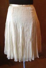 Womens W.D.N.Y. Ivory Silk Skirt Sz 6