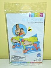 """INTEX Inflatable Arm Bands Mermaid NEW One Pair 7.5"""" x 7.5"""" 3-6 years"""