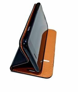 LG K10 Leather Wallet Case - Black Book Style Cover High Quality