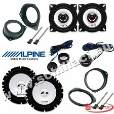 Kit 6 Speakers for FIAT BRAVO Alpine with adapters and spacer rings