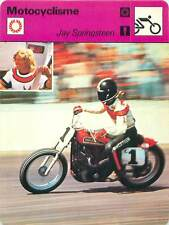 FICHE CARD: Jay Springsteen USA Motorcycle Dirt track racer MOTORCYCLING 1970s