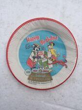 """Vintage 1969 Yogi Bear Happy Birthday 7"""" Plates Still Sealed"""
