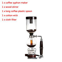 5 Cup Heat Resistant Glass Coffee Syphon Tabletop Syphon (Siphon) Coffee Maker