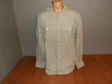 New Mens Size Large L French Connection Gray Button Front Shirt Cotton Poplin @