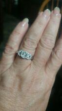 Estate 14K White Gold Baguette And Brilliant Cut Diamond Cluster Ring 1.00 Ct