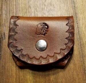 22mag Pocket Ammo Holder..holds five 22 Mag ..Herman oak leather.