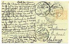 NED INDIE S.M.N.1927-6-5 = S.S.KONINGIN DER NEDERLANDEN = PM=POSTAGENT=