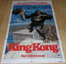 KING KONG 1976 ORIGINAL ADVANCE 1 SHEET MOVIE POSTER JESSICA LANGE JEFF BRIDGES