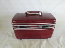 Train Case, Samsonite,  Maroon/Red, Cosmetic Case, Travel Case
