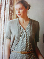 PatternTo Knit Lady's Simple Cardigan In King Cole Bamboo/ Cotton D.K- 32-42in
