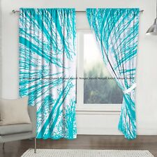 Indian Cotton Forest Tree Mandala Window Drape Hanging Curtain Home Garden Decor