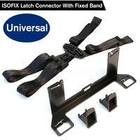 Universal ISOFIX Latch Seat Belt Connector Interface Bracket Car W/ Fixed