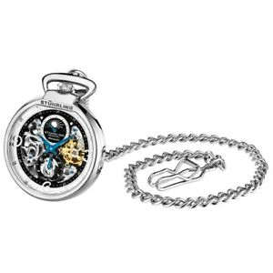Stuhrling Original 991 01 Modena Mechanical Automatic Skeleton Mens Pocket Watch