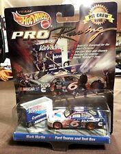 1998 HOT WHEELS RACING Mark Martin #6 Ford Taurus  & PIT CREW w/TOOL BOX