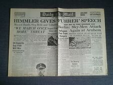 DAILY MAIL Newspaper-Nov 6 1944- Himmler gives 'Fuhrer' Speech massed Bands.