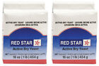 Red Star 2 - 1 lb Active Dry Yeast - Vacuum Sealed Pack Cake Dough Bread Bakers
