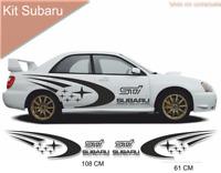 Subaru impreza wrx sti - Kit décoration adhésif Autocollant - couleur au choix