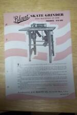 Vtg J.G Blount Co Brochure~Sg-20 Skate Grinder~Everett Ma~Catalog Insert